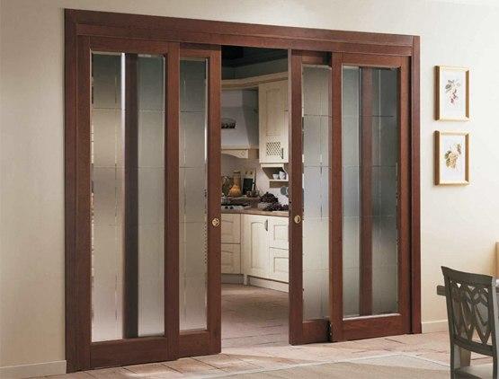 Раздвижные межкомнатные двери: фото, разновидности, материалы