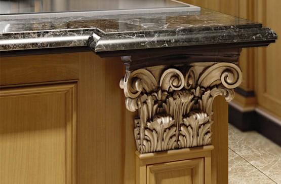 Сочетание камня и дерева в оформлении элитной мебели Vinchelli
