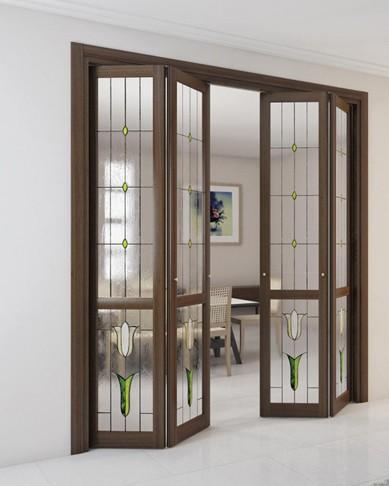 деревянные двери гармошка межкомнатные купить в москве