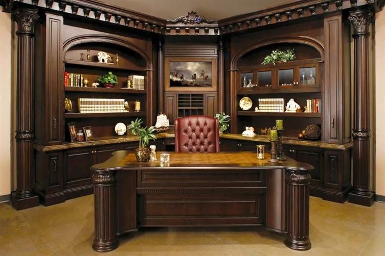 Мебель для кабинета из натурального дерева